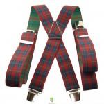 bretelles ecossaise rouge et vert