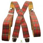 bretelles homme écossais rouge