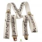 Bretelles partitions de musique