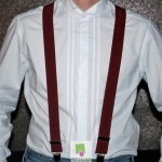 Bretelles homme bordeaux