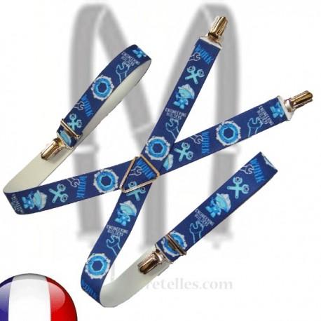 Bretelles enfant Bricoleur bleu