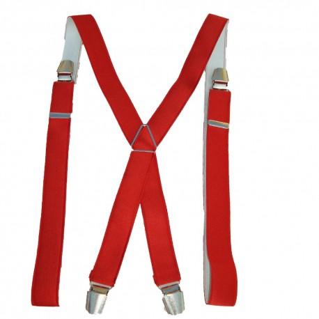 bretelles fines rouge homme ou femme