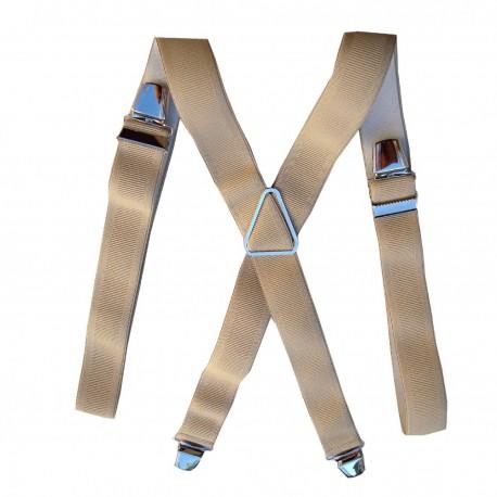 Bretelle grande taille 120 cm beige clair