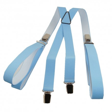 Bretelles homme 25mm bleu ciel