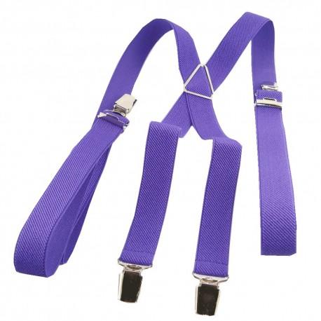 Bretelles homme 25mm violet