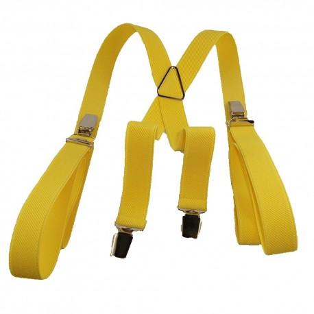 Bretelles homme 25mm jaune