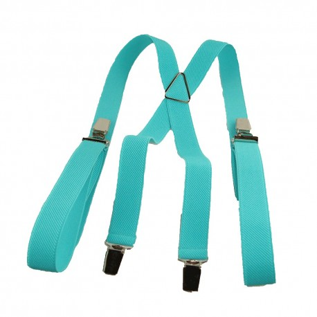 Bretelles homme 25mm bleu turquoise