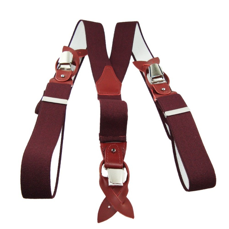 Paire de bretelles bordeaux de la marque mes-bretelles.com