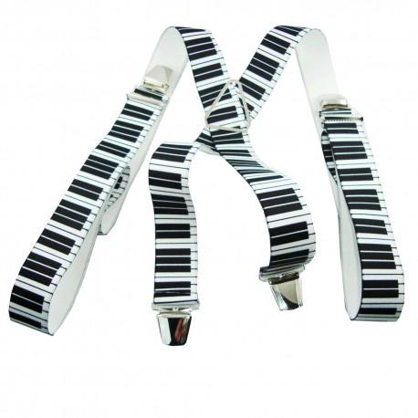 Bretelles homme piano noir et blanc spéciale musicien