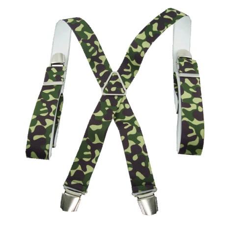 Bretelles chasse camouflage vert