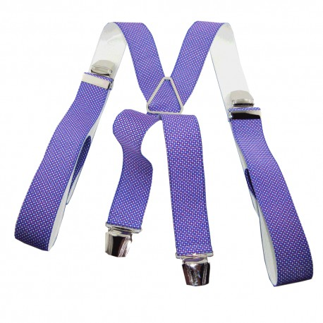 Bretelles homme violette