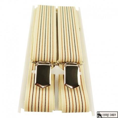 Bretelle fines 25 mm lignes verticales colorées
