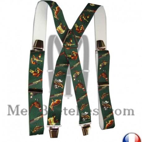 Bretelles motifs cravate